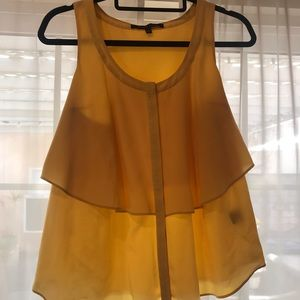 Pure yellow silk top